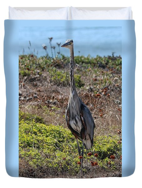 Great Blue Heron - 7 Duvet Cover