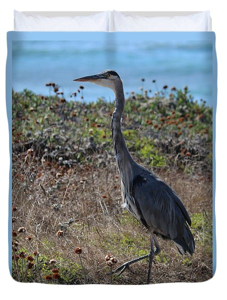 Great Blue Heron - 8 Duvet Cover