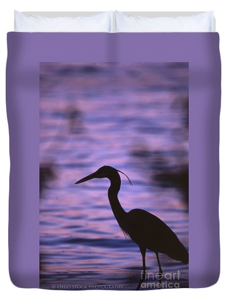 Great Blue Heron Photo Duvet Cover