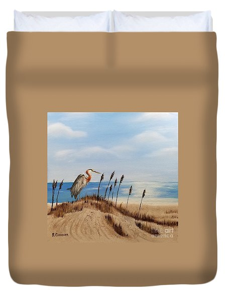 Great Blue Heron - Outer Banks Duvet Cover