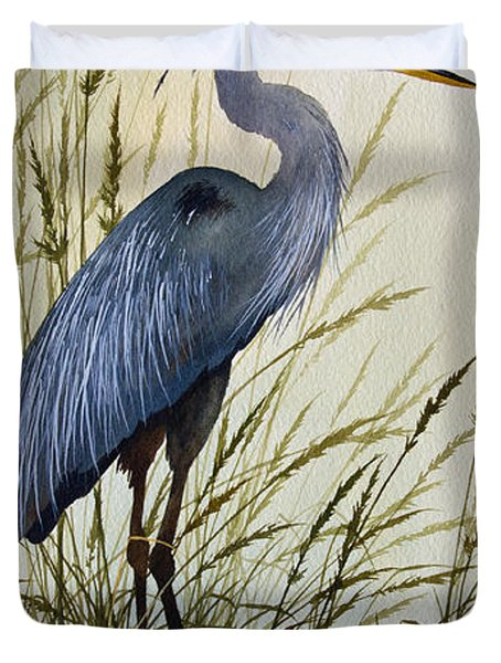 Great Blue Heron Splendor Duvet Cover
