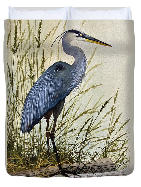 Great Blue Heron Splendor Duvet Cover