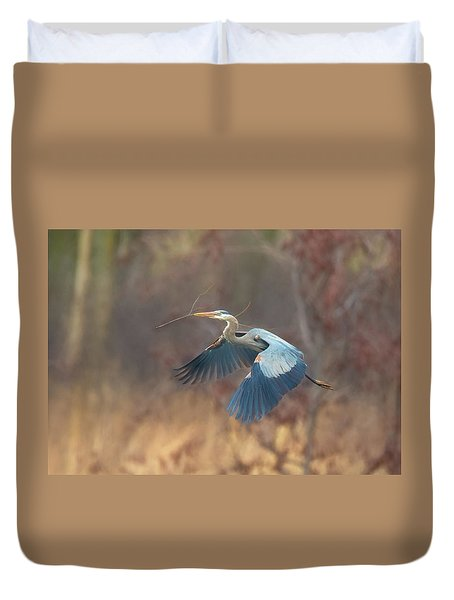 Great Blue Duvet Cover by Kelly Marquardt