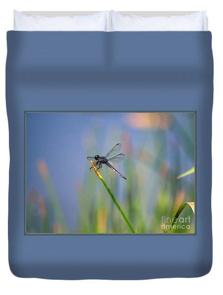 Great Blue Skimmer Duvet Cover by Brenda Bostic