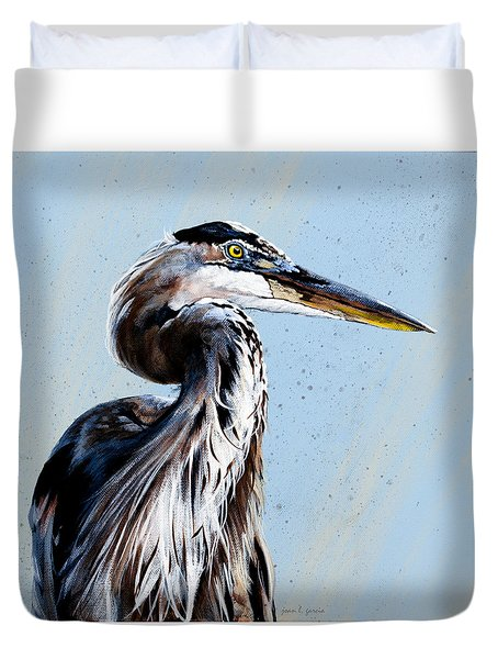 Great Blue Theodore Duvet Cover