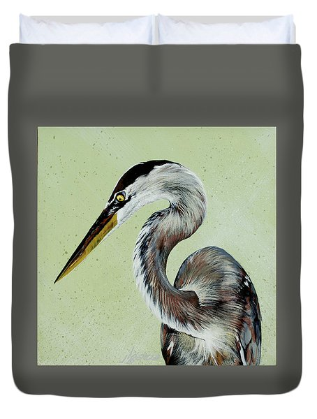 Great Blue Milton Duvet Cover