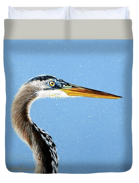 Great Blue Walter Duvet Cover