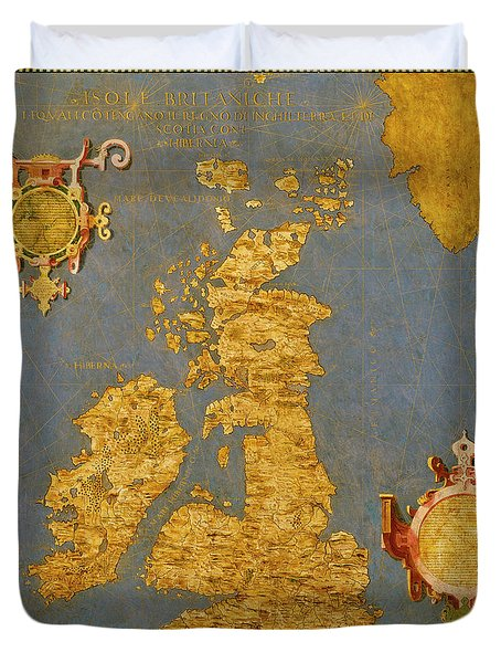 Great Bretain And Ireland Duvet Cover