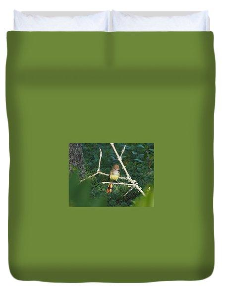 Great Crested Flycatcher Duvet Cover