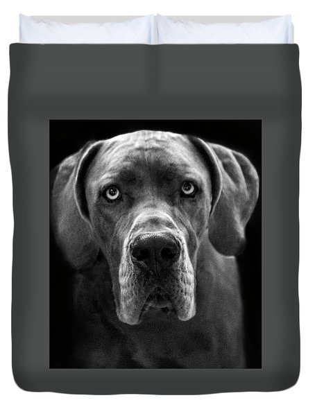 Great Dane  Duvet Cover by Alex Galkin