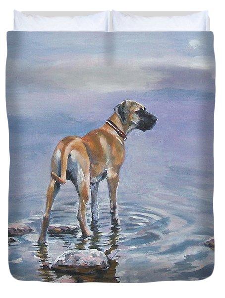 Great Dane Duvet Cover by Lee Ann Shepard