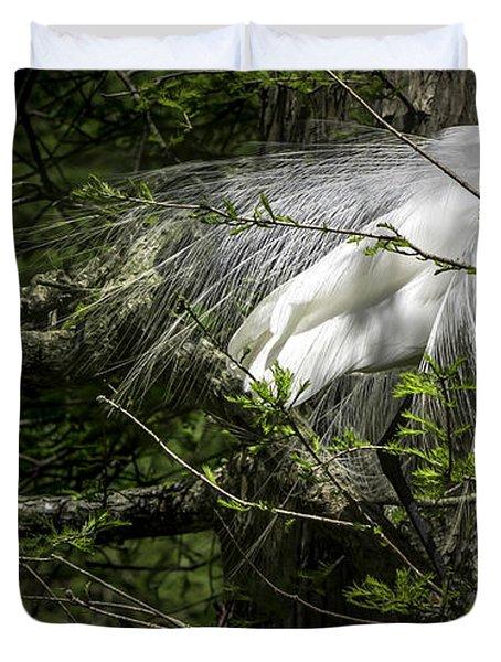 Great Egret #2 Duvet Cover
