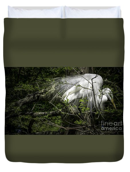 Great Egret #2 Duvet Cover