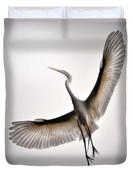 Great Egret Majesty Duvet Cover