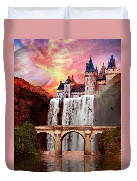 Great Falls Castle Duvet Cover
