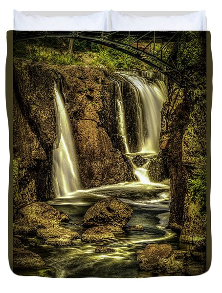 Great Falls Close Up Duvet Cover