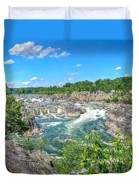 Great Falls On The Potomac Duvet Cover