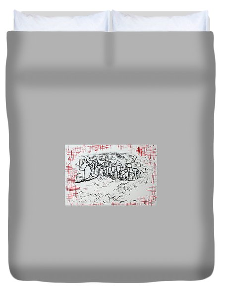 Great Falls Waterfall 201752 Duvet Cover by Alyse Radenovic