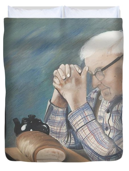 Great Grandpa Duvet Cover by Jacqueline Athmann
