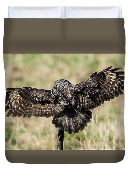 Great Grey's Back Duvet Cover by Torbjorn Swenelius