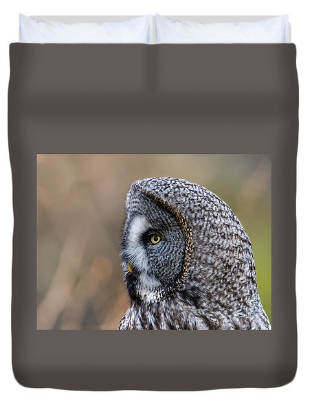 Great Grey's Profile A Closeup Duvet Cover by Torbjorn Swenelius