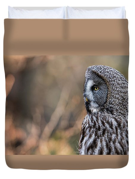 Great Grey's Profile Duvet Cover by Torbjorn Swenelius