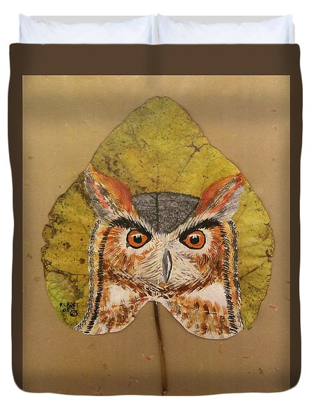 Great Horned Owl Duvet Cover by Ralph Root