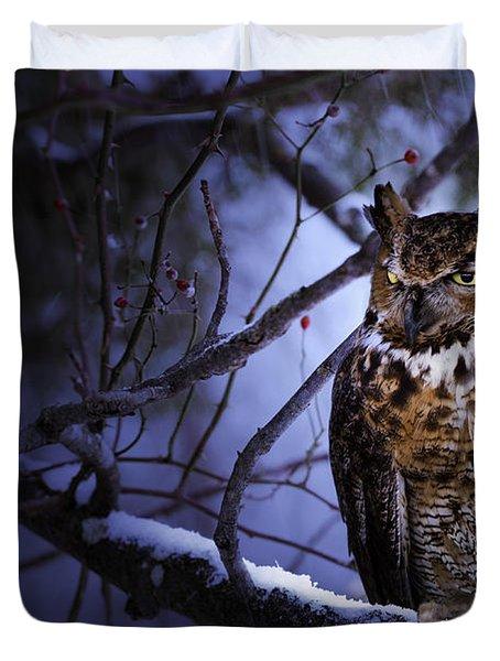 Great Horned Duvet Cover by Ron Jones