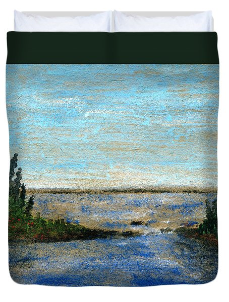 Great Lake Beyond Duvet Cover by R Kyllo