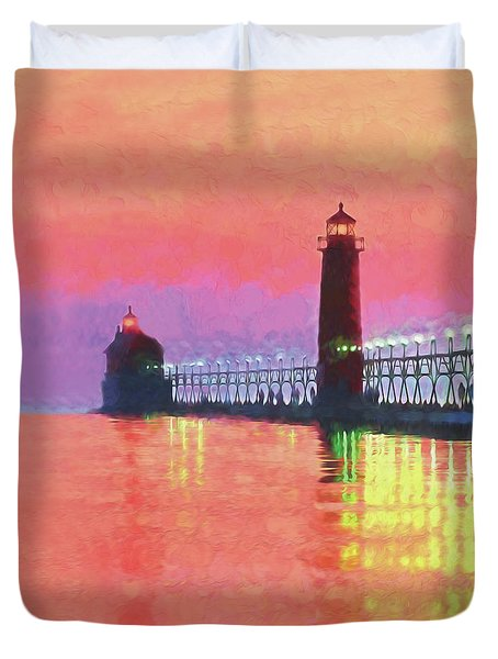 Great Lakes Light Duvet Cover