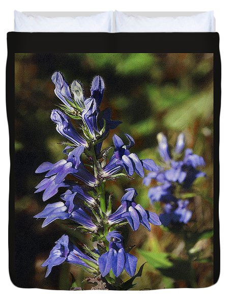 Great Lobelia Blues Duvet Cover