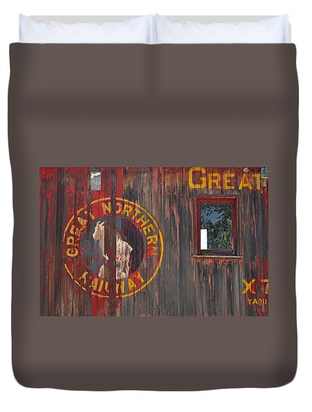 Great Northern Railway Old Boxcar Duvet Cover
