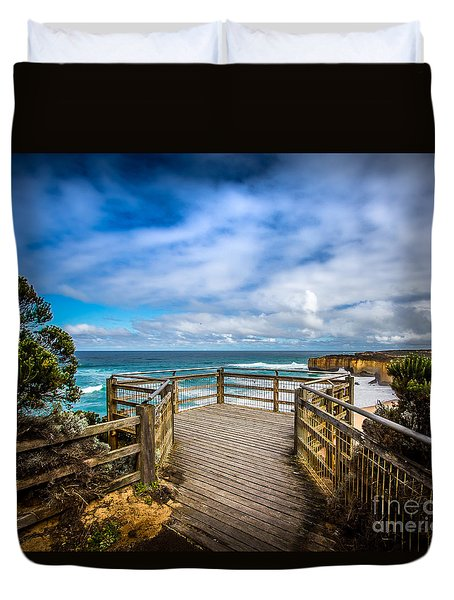 Great Ocean Overlook Duvet Cover