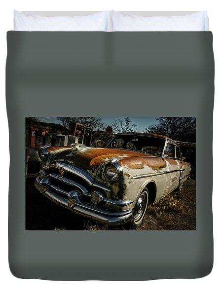 Duvet Cover featuring the photograph Great Old Packard by Marilyn Hunt