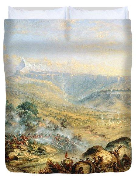 Great Peak Of The Amatola-british-kaffraria  Duvet Cover by Thomas Baines