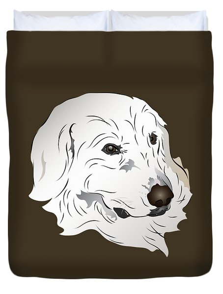 Great Pyrenees Dog Duvet Cover