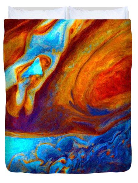 Jovian Turbulence Duvet Cover