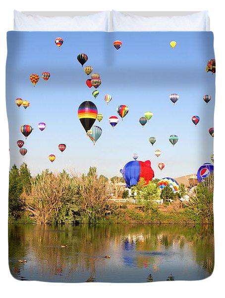 Great Reno Balloon Races Duvet Cover