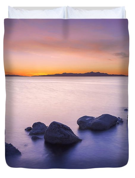 Duvet Cover featuring the photograph Great Salt Lake by Dustin  LeFevre