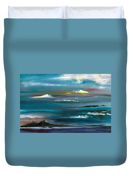 Great Salt Lake Duvet Cover by Jane Autry