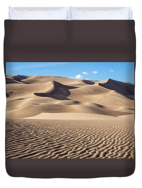 Great Sand Dunes National Park In Colorado Duvet Cover