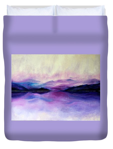 Great Smoky Lakeside Duvet Cover