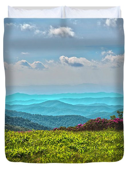 Great Smoky Mountain Afternoon Duvet Cover