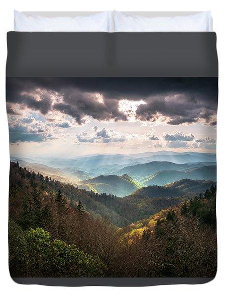 Great Smoky Mountains National Park North Carolina Scenic Landscape Duvet Cover