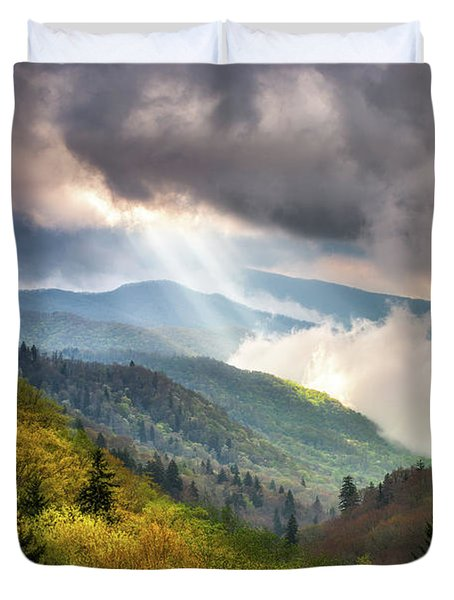 Great Smoky Mountains National Park Scenic Landscape Gatlinburg Tn Duvet Cover