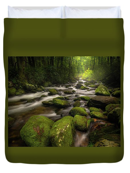 Great Smoky Mountains Roaring Fork Duvet Cover