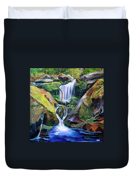 Great Smoky Waterfall Duvet Cover