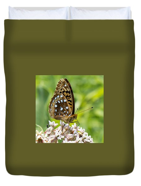 Great Spangled Fritilary Duvet Cover