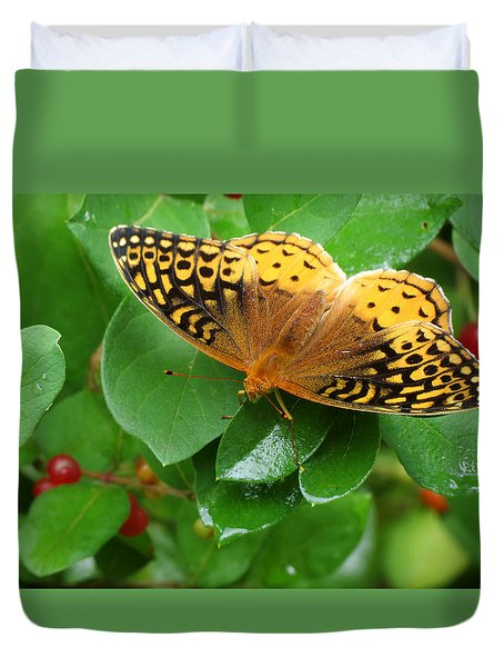 Great Spangled Fritillary Duvet Cover