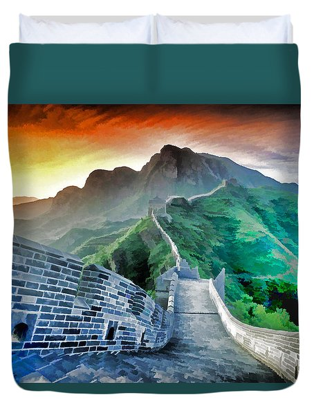 Great Wall Dawn Duvet Cover
